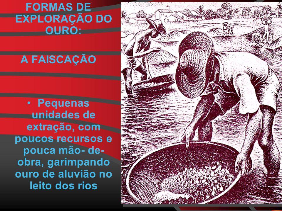 FORMAS DE EXPLORAÇÃO DO OURO: