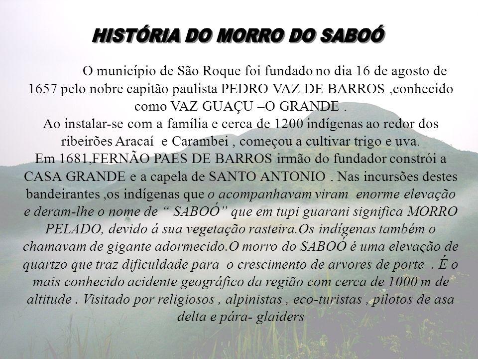 HISTÓRIA DO MORRO DO SABOÓ