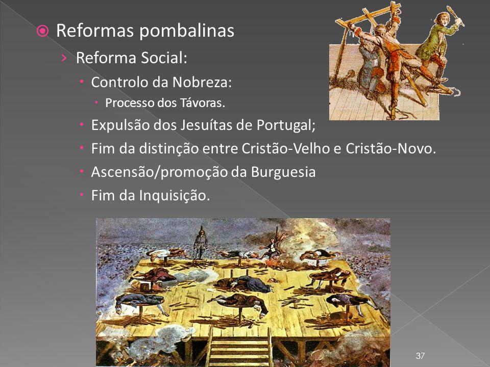 Reformas pombalinas Reforma Social: Controlo da Nobreza: