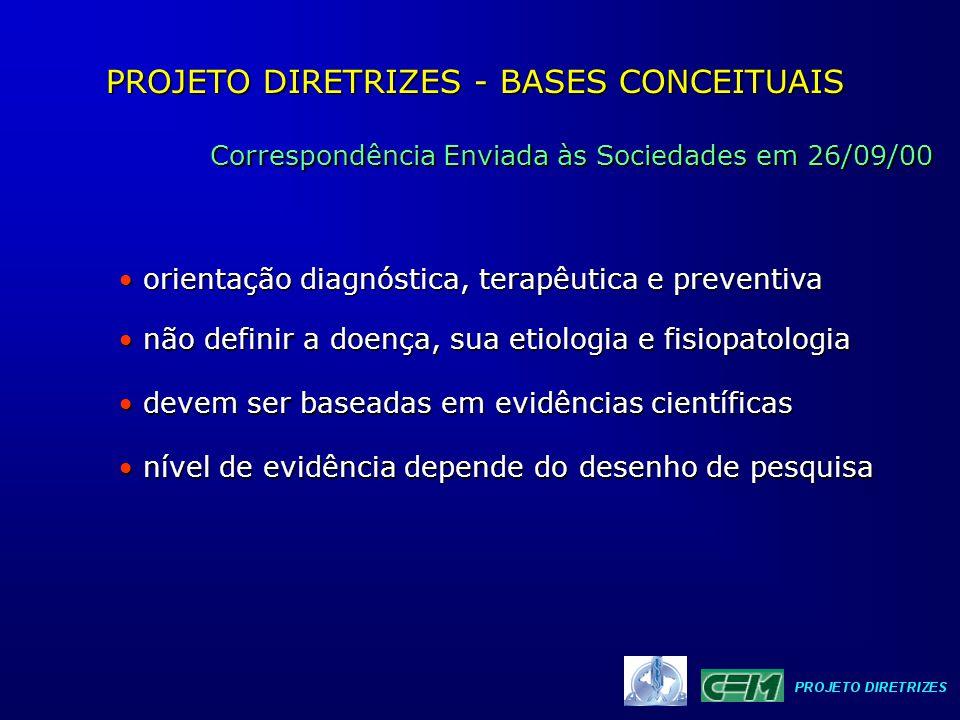 PROJETO DIRETRIZES - BASES CONCEITUAIS