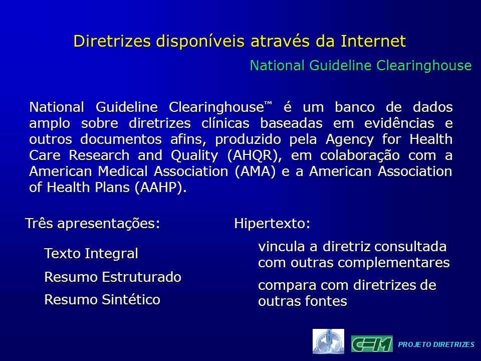 Diretrizes disponíveis através da Internet