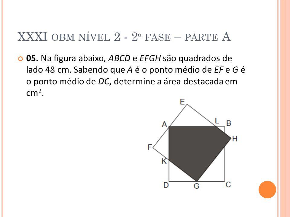 XXXI obm nível 2 - 2ª fase – parte A
