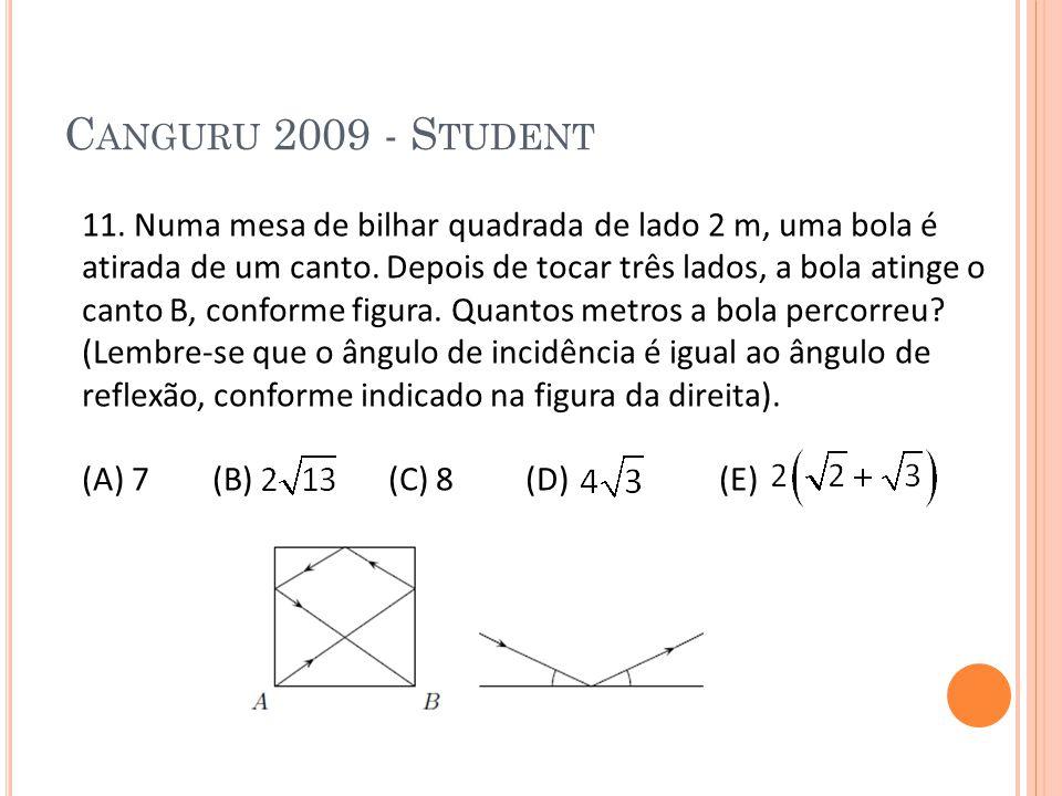 Canguru 2009 - Student