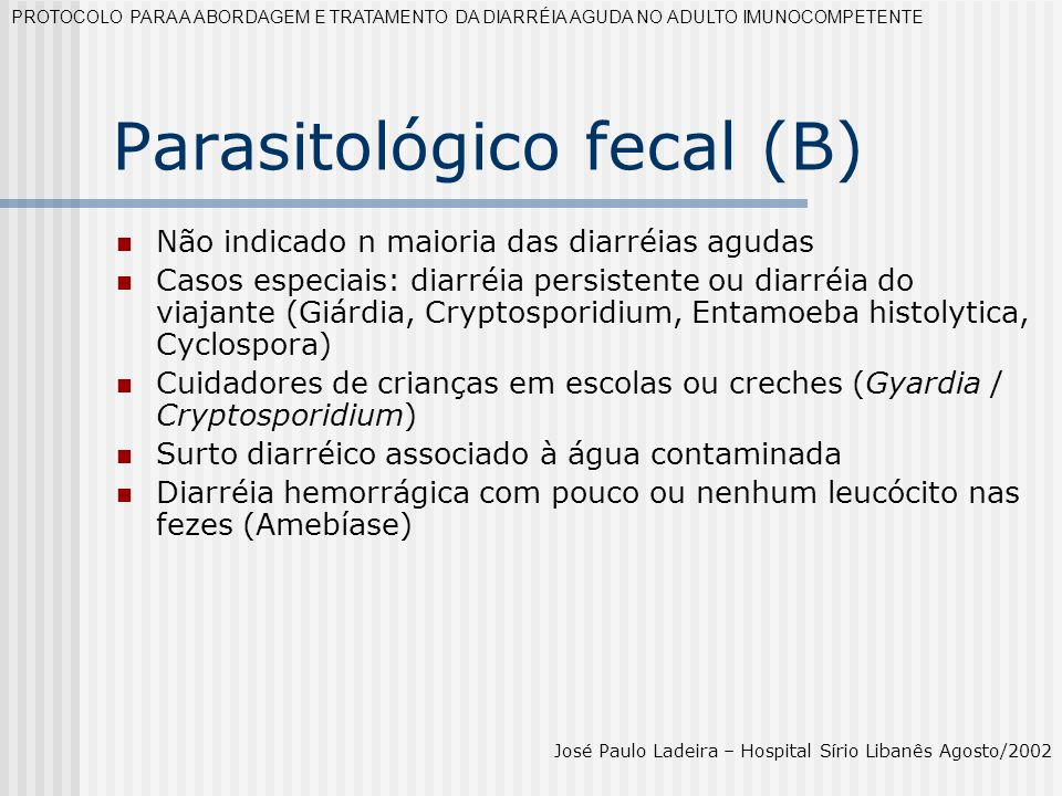 Parasitológico fecal (B)