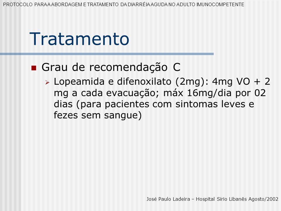 Tratamento Grau de recomendação C