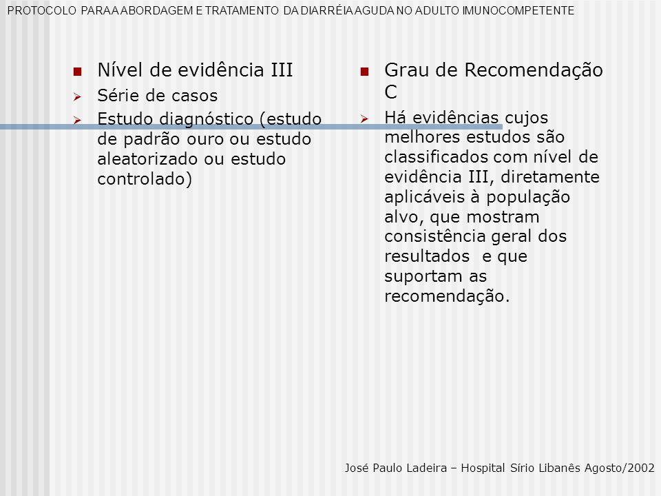 Nível de evidência III Grau de Recomendação C Série de casos