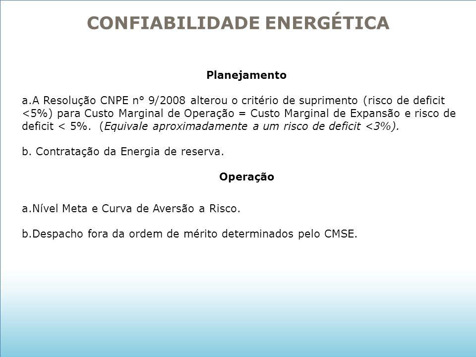 CONFIABILIDADE ENERGÉTICA