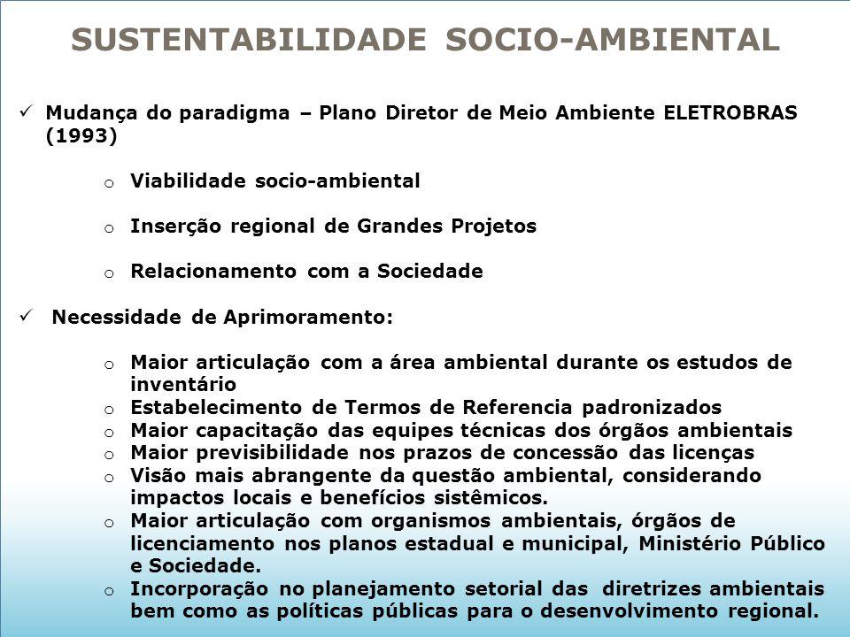 SUSTENTABILIDADE SOCIO-AMBIENTAL