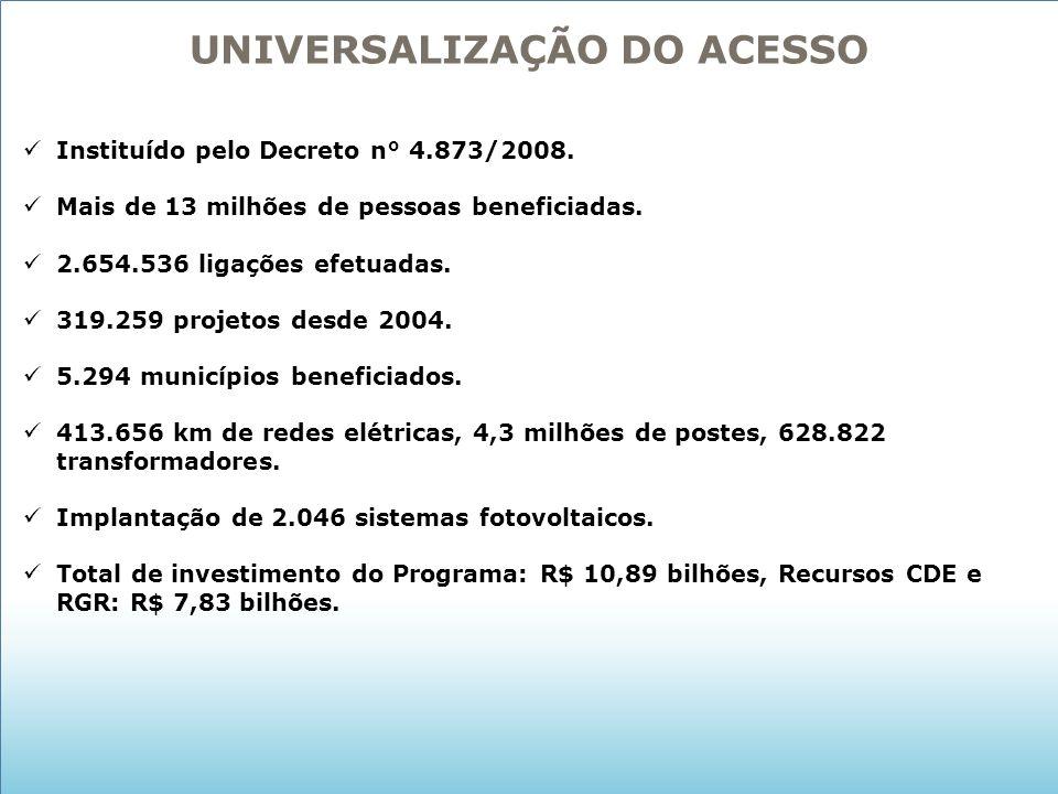 UNIVERSALIZAÇÃO DO ACESSO