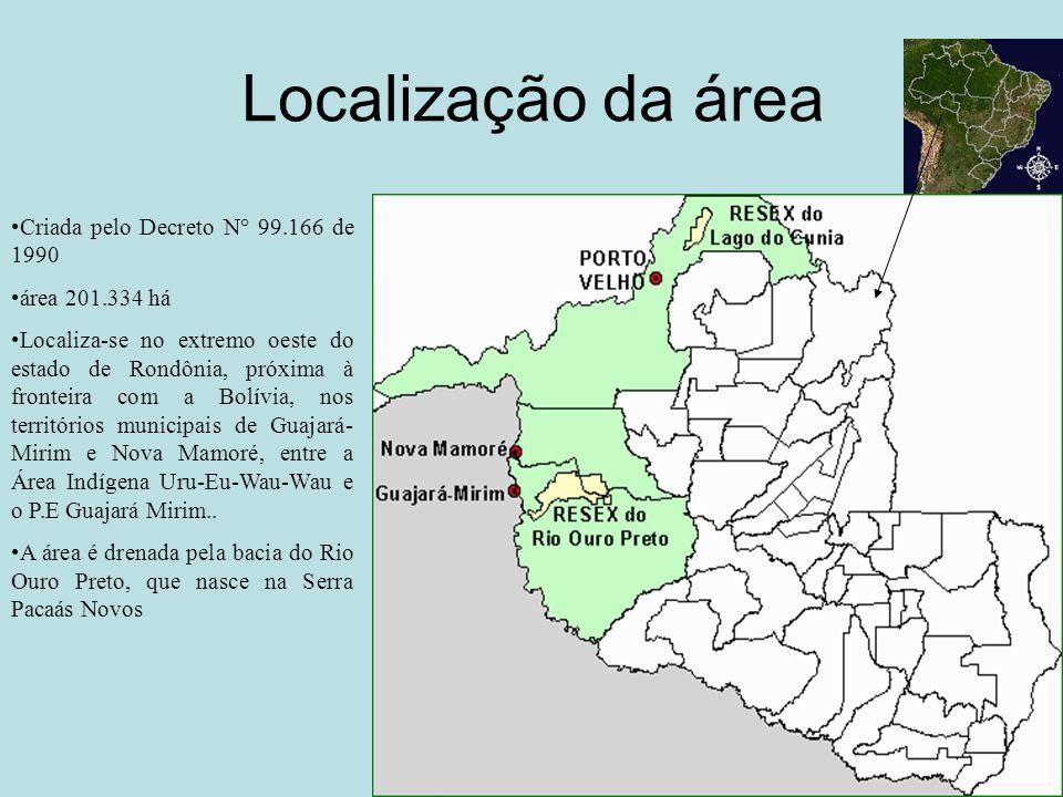 Localização da área Criada pelo Decreto N° 99.166 de 1990