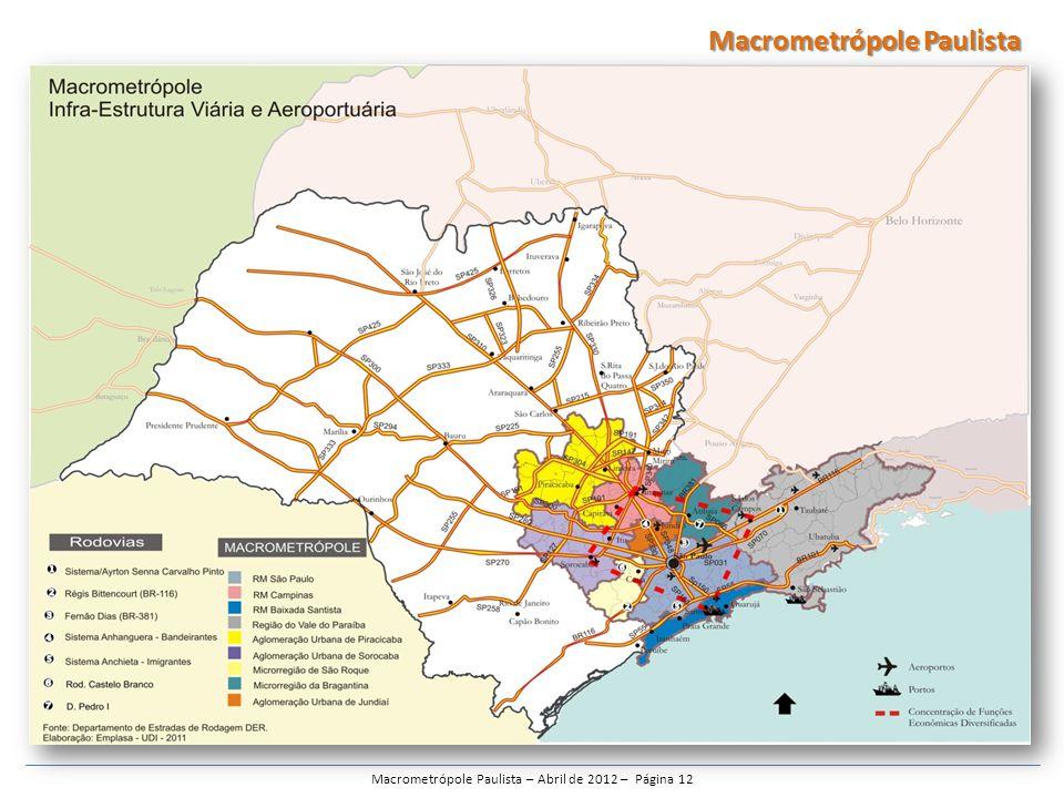 Macrometrópole Paulista – Abril de 2012 – Página 12