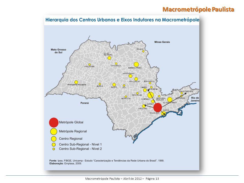 Macrometrópole Paulista – Abril de 2012 – Página 13