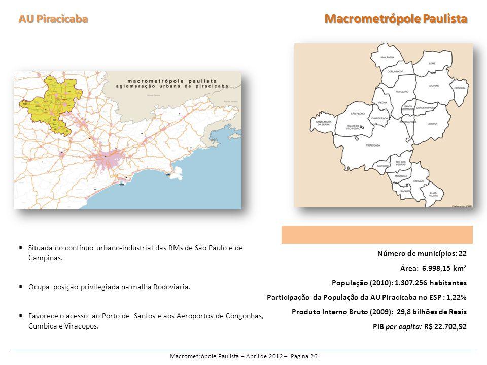 Macrometrópole Paulista – Abril de 2012 – Página 26