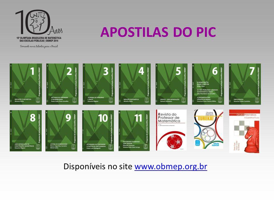 Disponíveis no site www.obmep.org.br