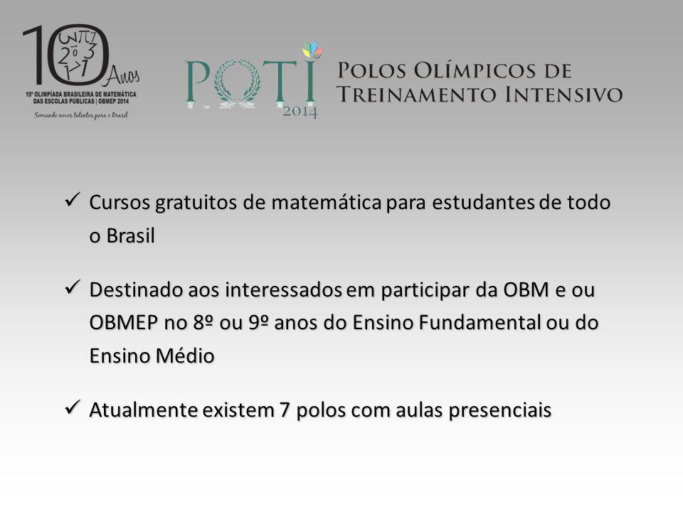 Cursos gratuitos de matemática para estudantes de todo o Brasil
