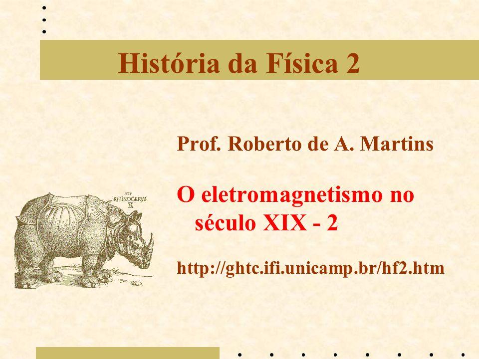 História da Física 2 O eletromagnetismo no século XIX - 2