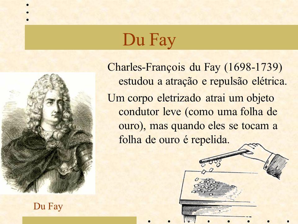 Du Fay Charles-François du Fay (1698-1739) estudou a atração e repulsão elétrica.