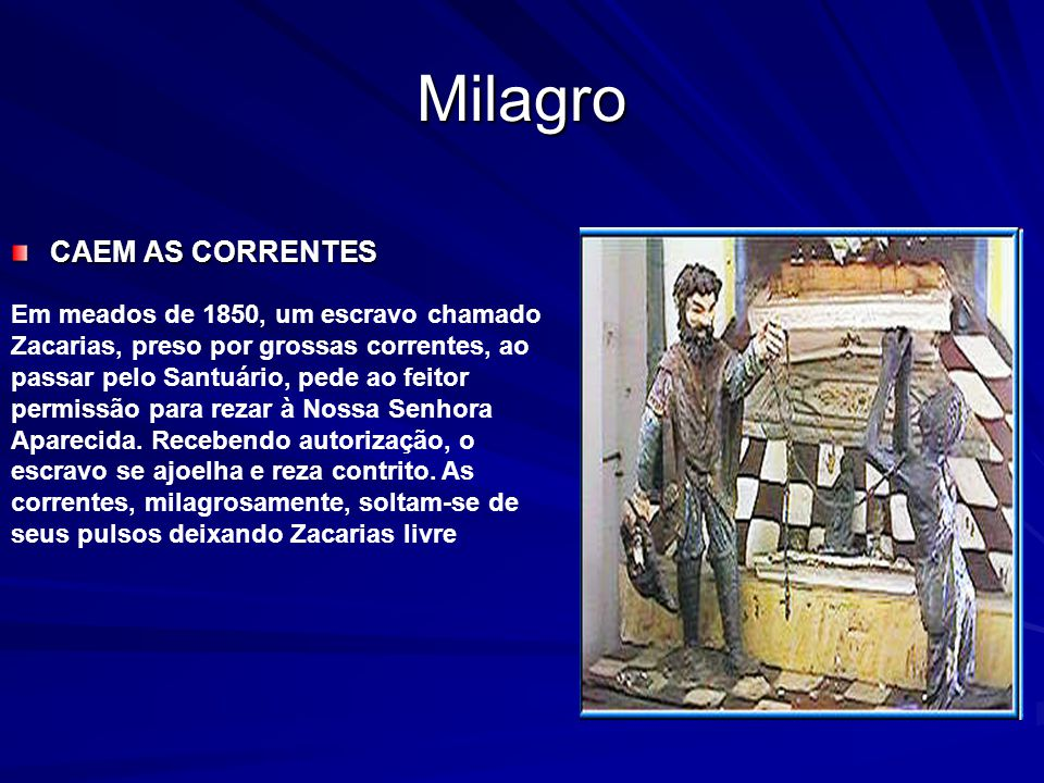 Milagro CAEM AS CORRENTES