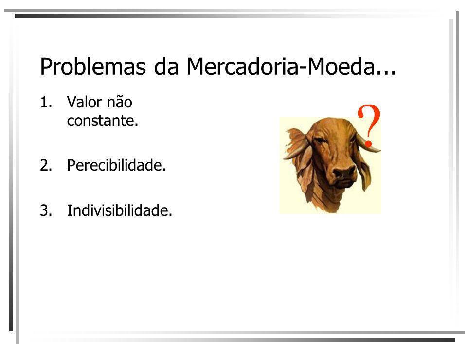 Problemas da Mercadoria-Moeda...