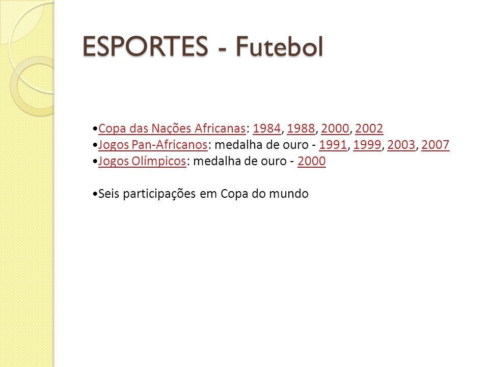 ESPORTES - Futebol Copa das Nações Africanas: 1984, 1988, 2000, 2002