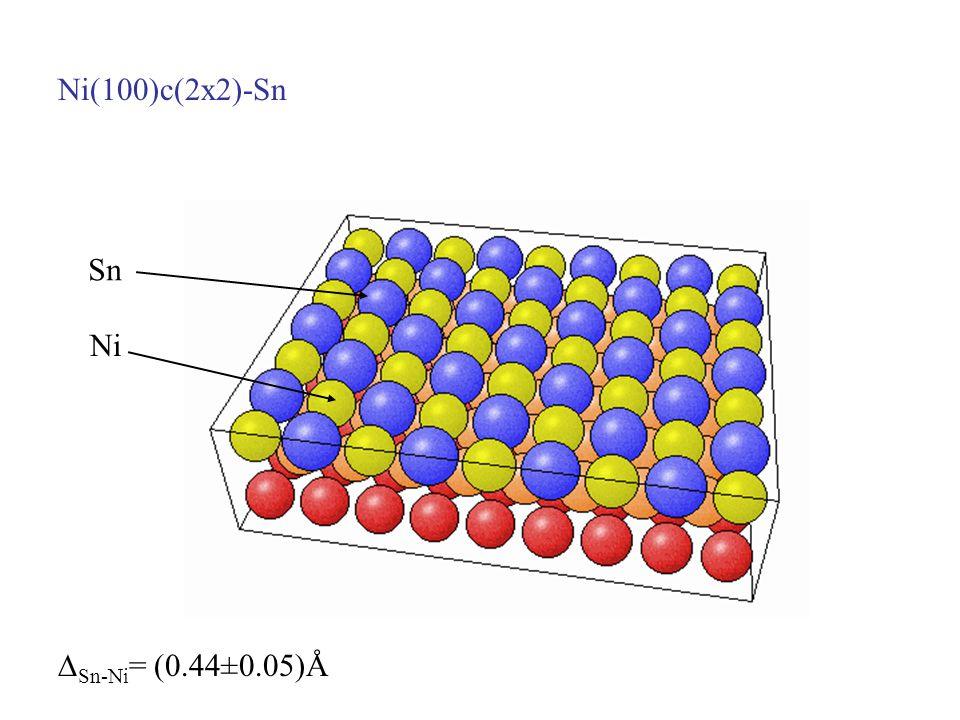 Ni(100)c(2x2)-Sn Sn Ni Sn-Ni= (0.44±0.05)Å