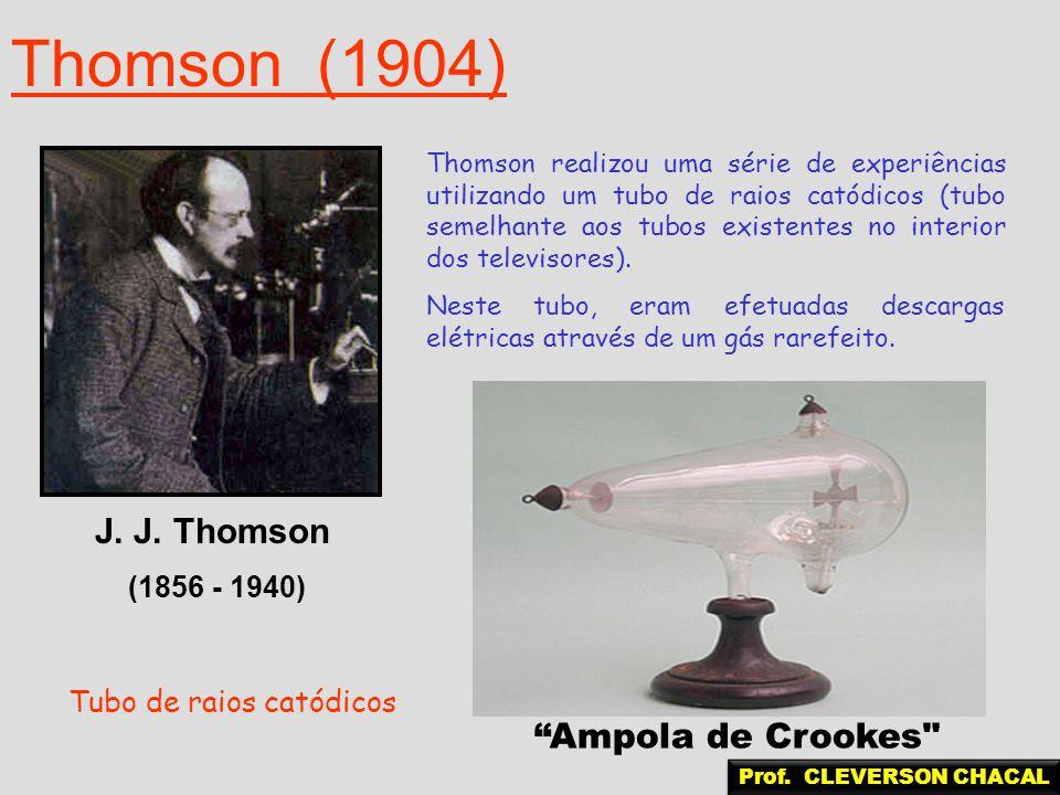 Thomson (1904) J. J. Thomson Ampola de Crookes (1856 - 1940)