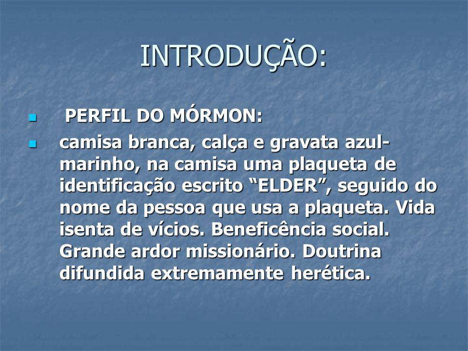 INTRODUÇÃO: PERFIL DO MÓRMON: