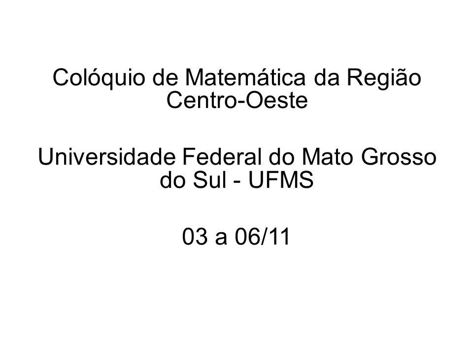 Colóquio de Matemática da Região Centro-Oeste