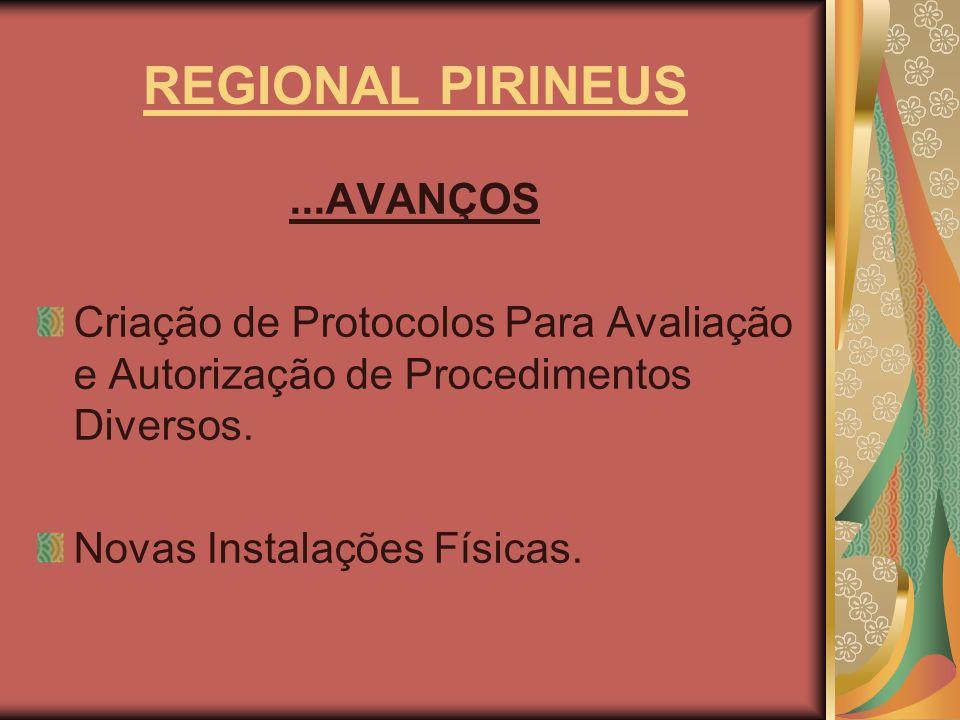 REGIONAL PIRINEUS ...AVANÇOS