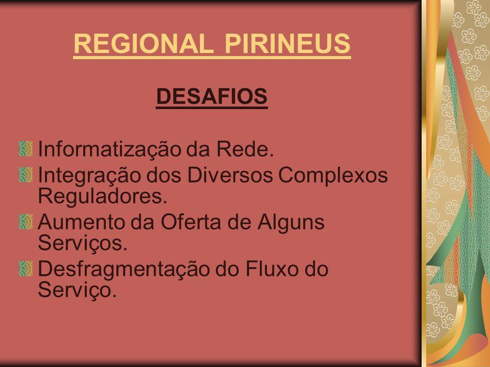 REGIONAL PIRINEUS DESAFIOS Informatização da Rede.