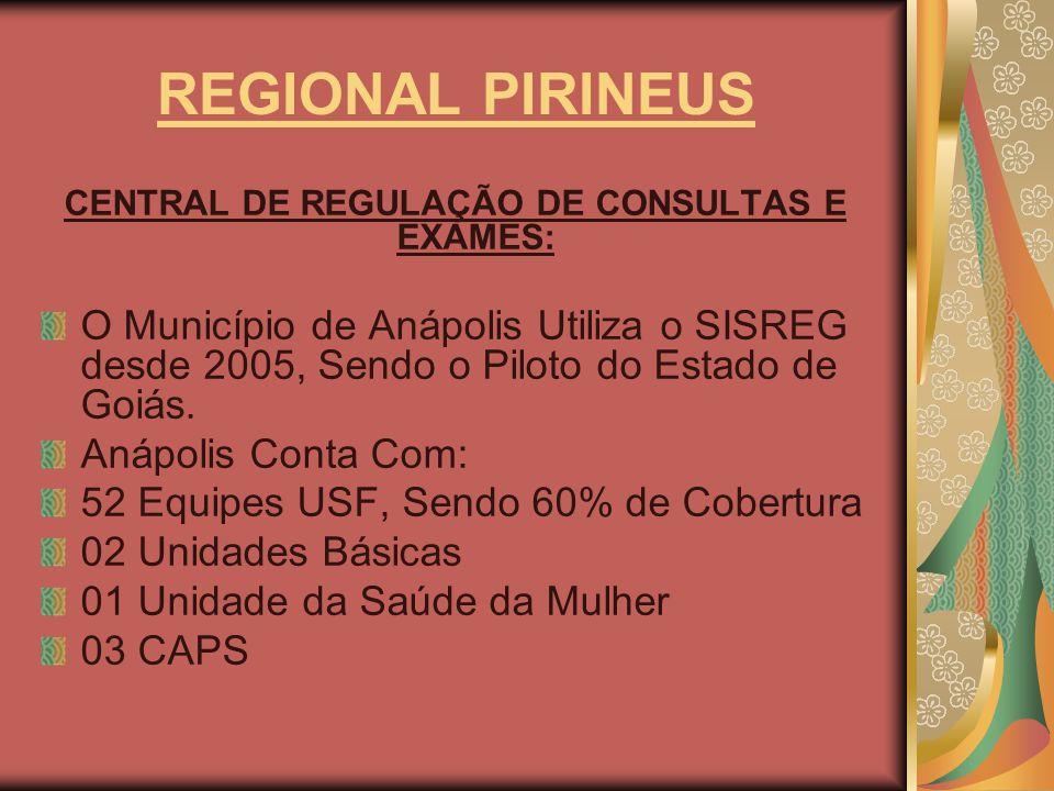 CENTRAL DE REGULAÇÃO DE CONSULTAS E EXAMES: