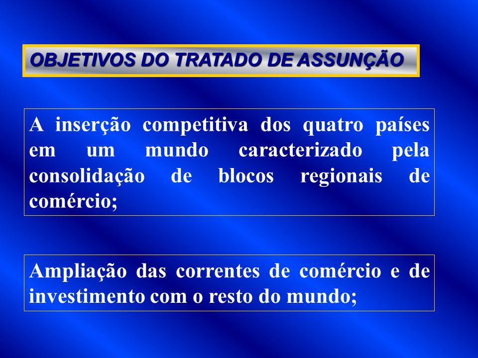 OBJETIVOS DO TRATADO DE ASSUNÇÃO
