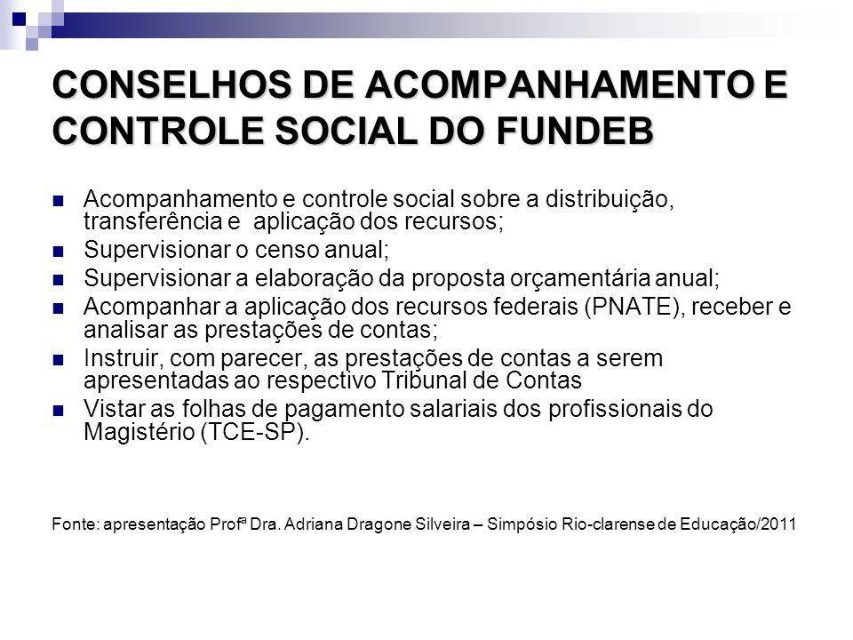 CONSELHOS DE ACOMPANHAMENTO E CONTROLE SOCIAL DO FUNDEB