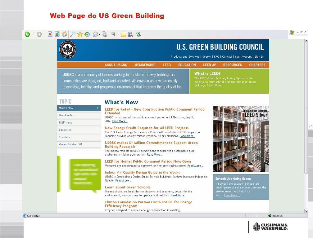 Prédios Brasileiros registrados no US Green Building