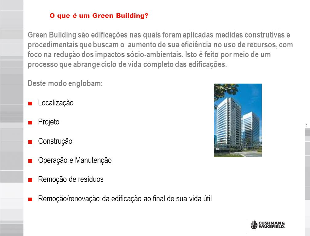 Benefícios do Green Building