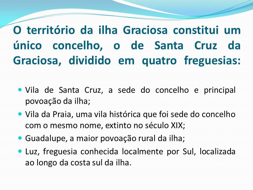 O território da ilha Graciosa constitui um único concelho, o de Santa Cruz da Graciosa, dividido em quatro freguesias:
