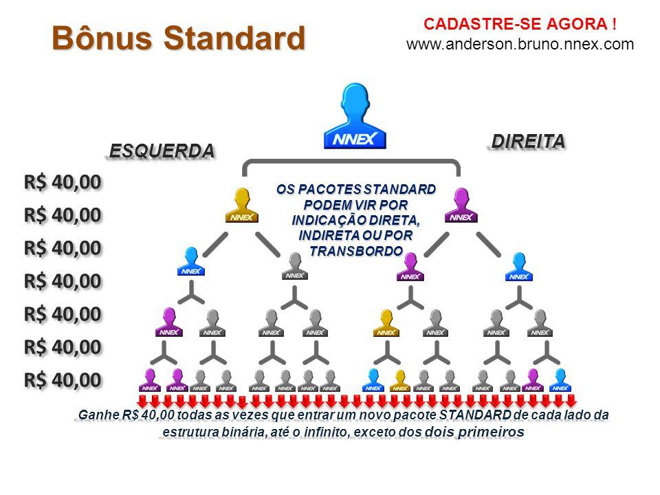 Bônus Standard R$ 40,00 R$ 40,00 R$ 40,00 R$ 40,00 R$ 40,00 R$ 40,00