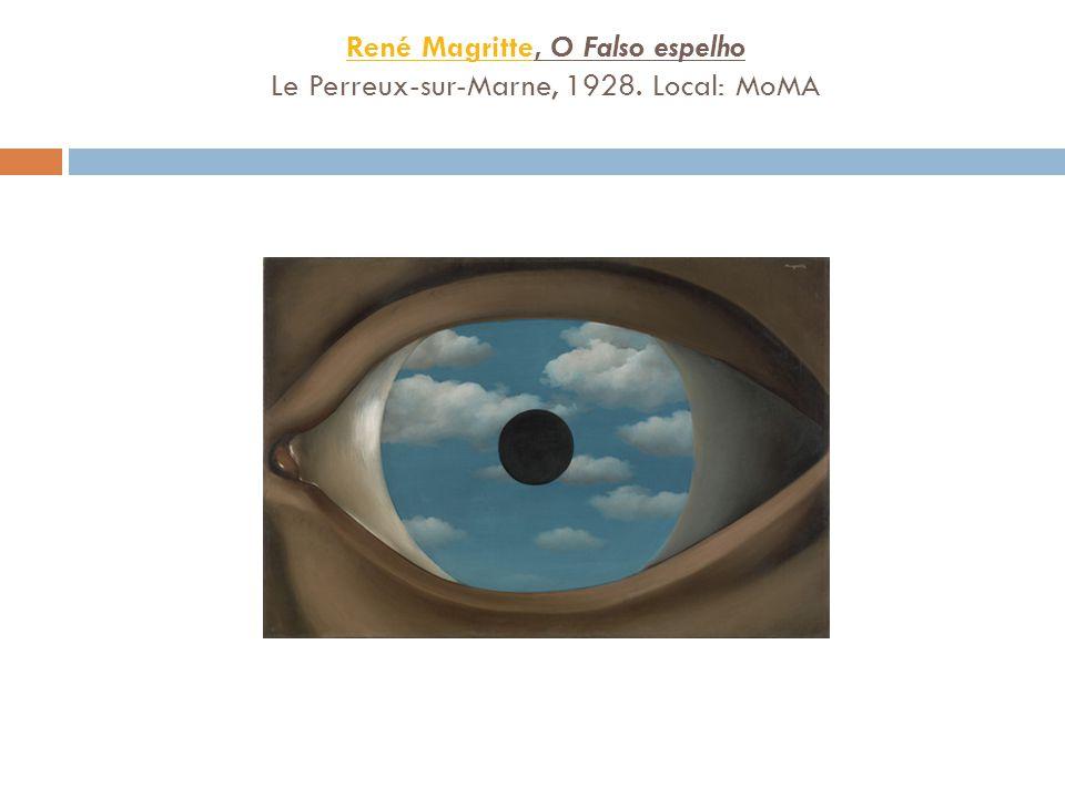 René Magritte, O Falso espelho Le Perreux-sur-Marne, 1928. Local: MoMA