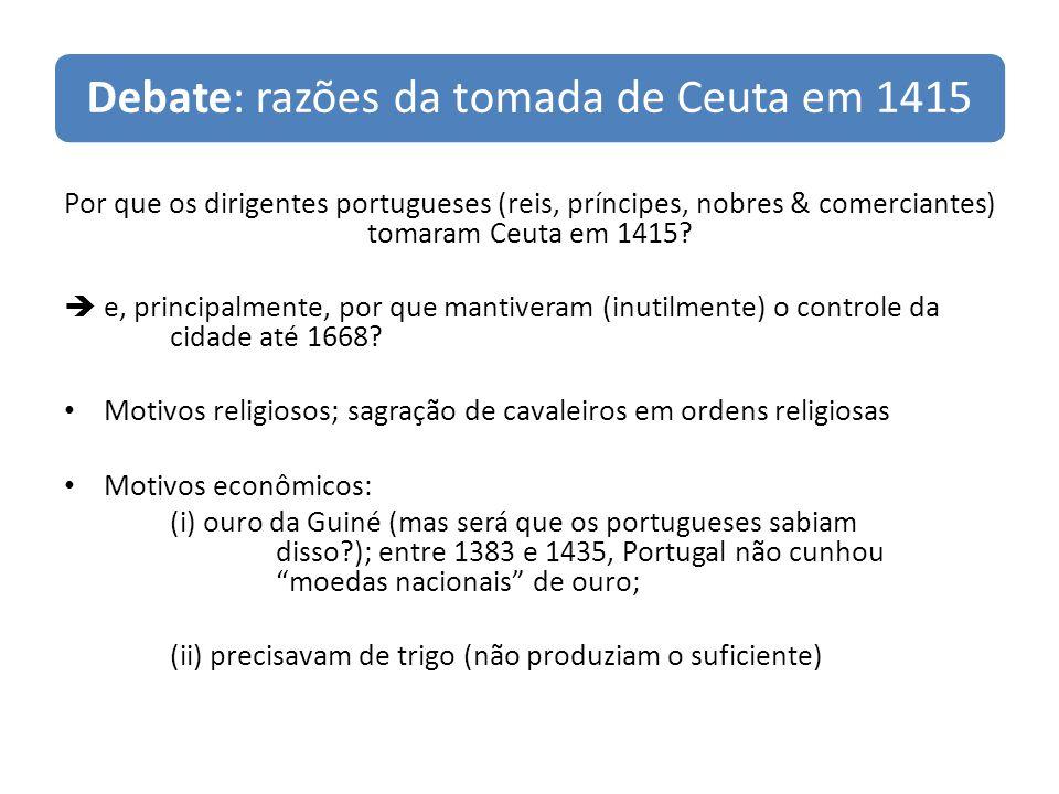 Debate: razões da tomada de Ceuta em 1415