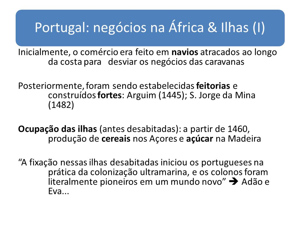 Portugal: negócios na África & Ilhas (I)