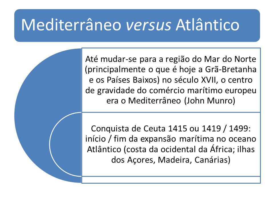 Mediterrâneo versus Atlântico