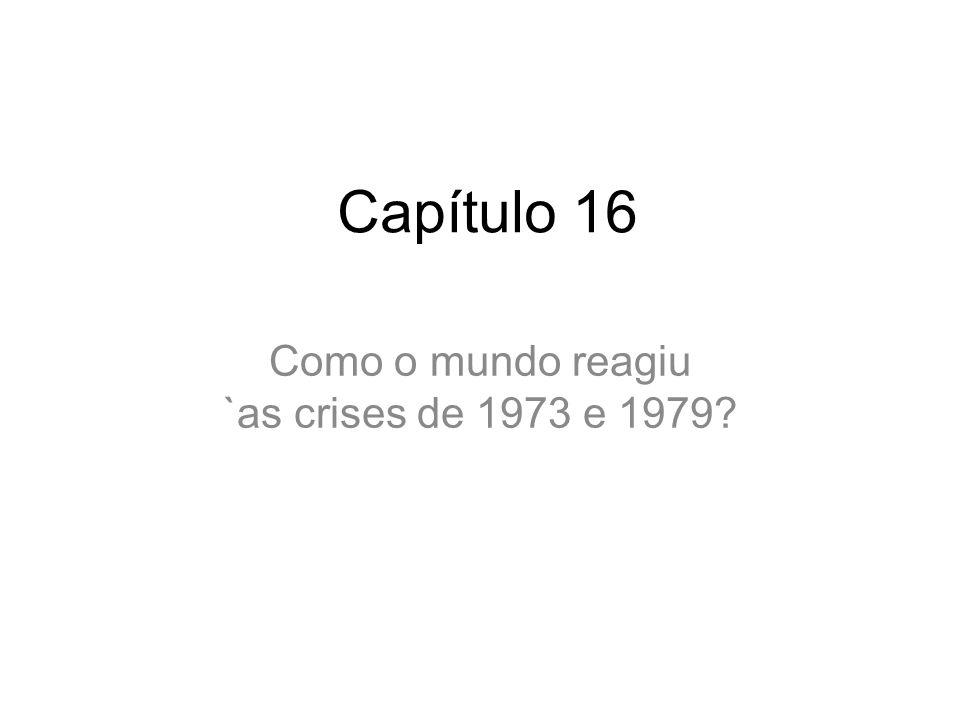 Como o mundo reagiu `as crises de 1973 e 1979