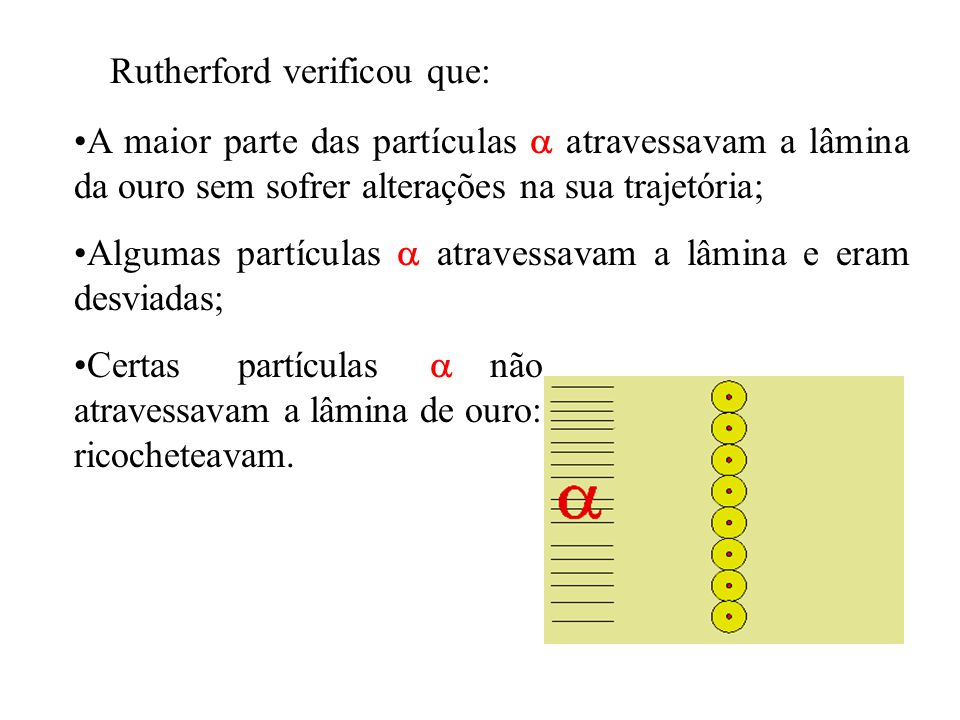 Rutherford verificou que: