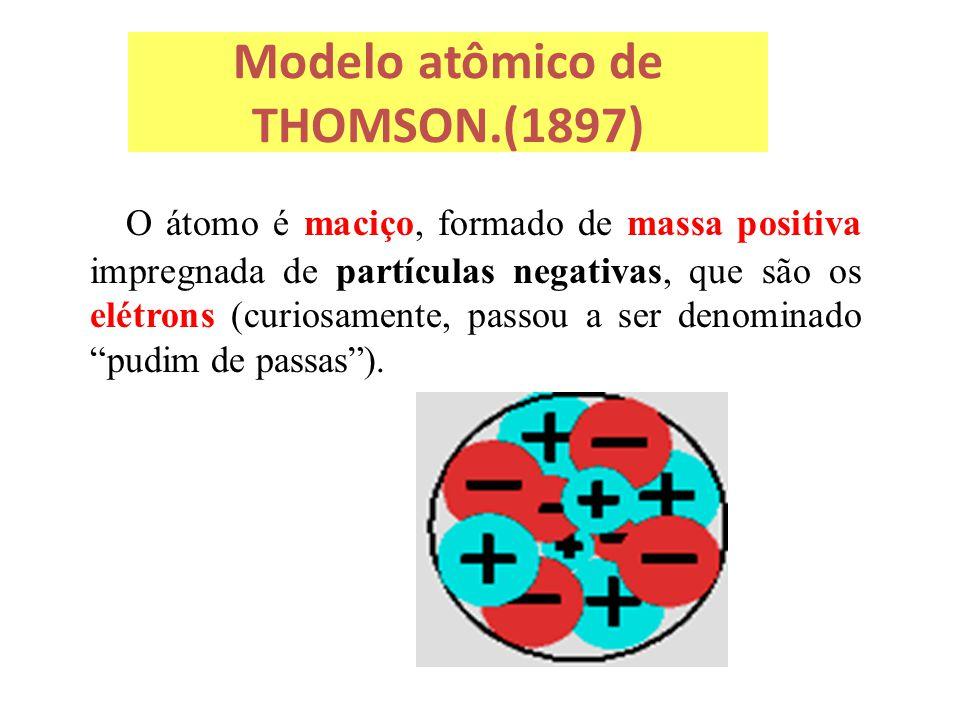 Modelo atômico de THOMSON.(1897)