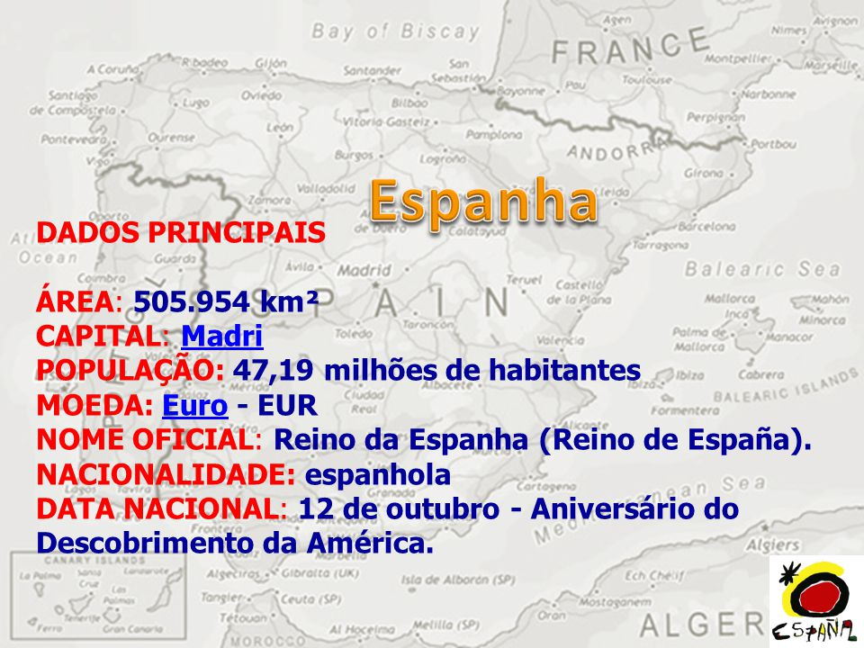 Espanha DADOS PRINCIPAIS