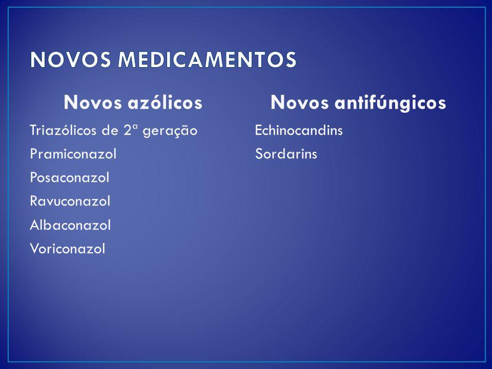 NOVOS MEDICAMENTOS Novos azólicos Novos antifúngicos