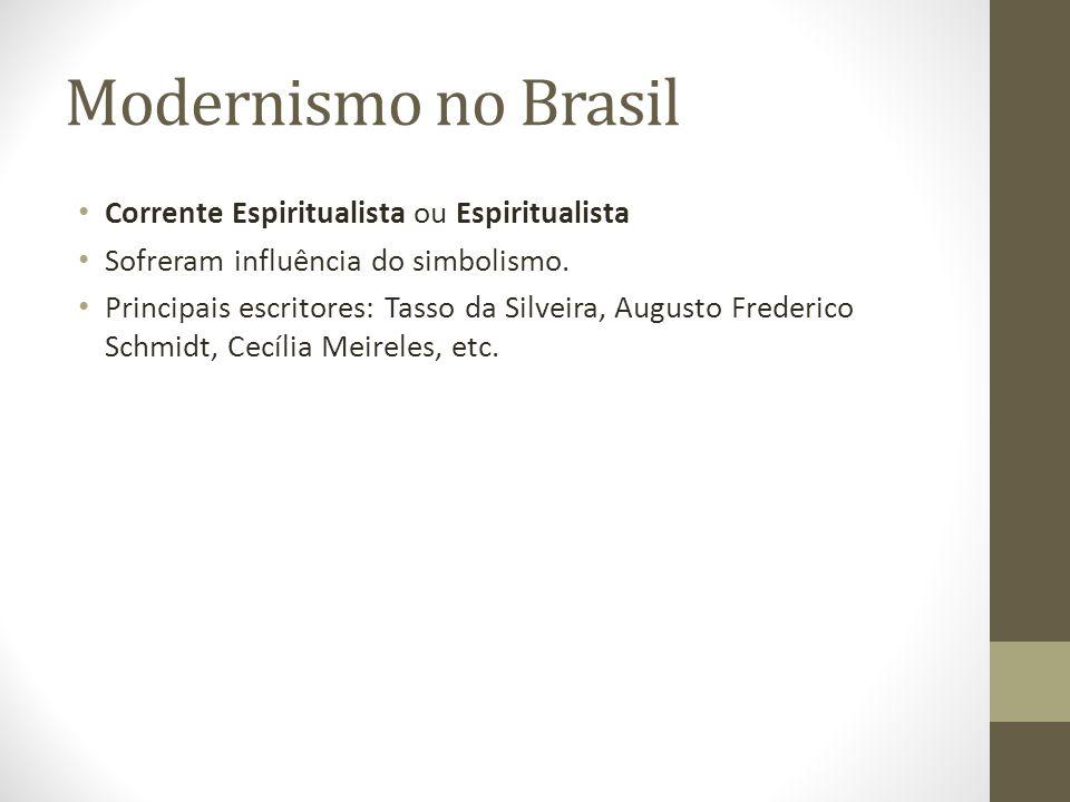 Modernismo no Brasil Corrente Espiritualista ou Espiritualista