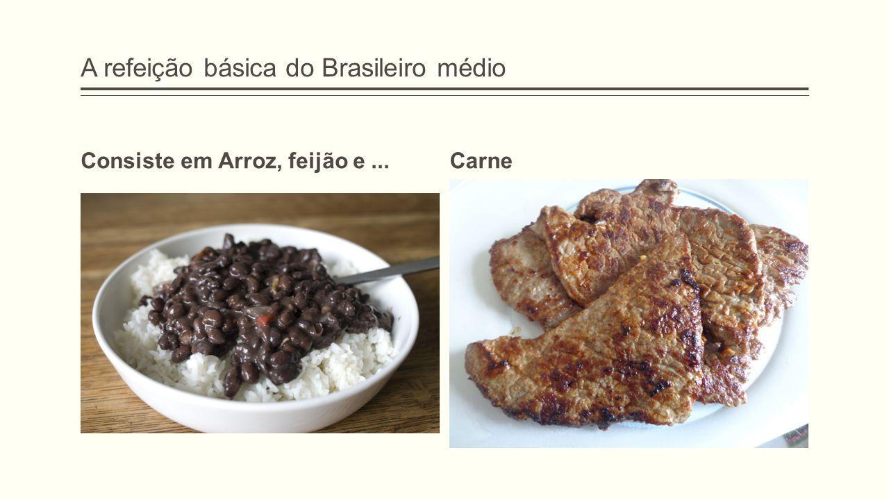 A refeição básica do Brasileiro médio