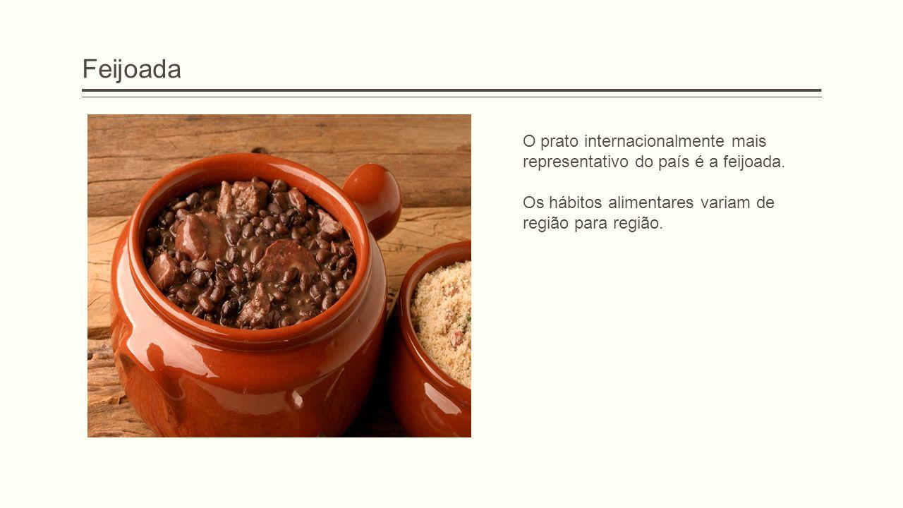 Feijoada O prato internacionalmente mais representativo do país é a feijoada.