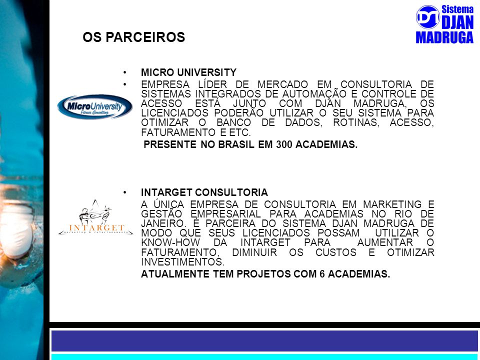 OS PARCEIROS MICRO UNIVERSITY